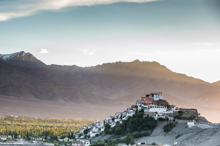 Shey Monastery in the mesmerizing sunset